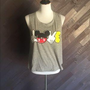 Disney Mickey Love Tank Top 🖤❤️💛